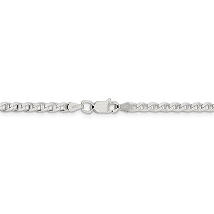 "Sterling Silver 10"" Anchor Anklet"