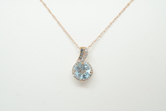 10k Rose Gold Topaz Necklace