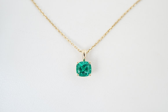 14k Chatham Created Emerald Pendant