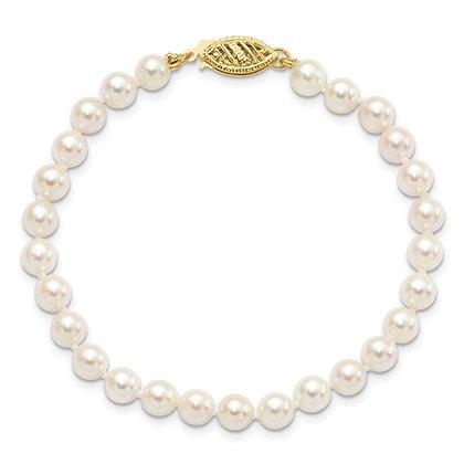 14k 5-5.5mm Akoya Pearl Bracelet