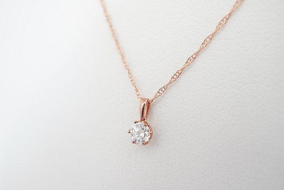10k Rose .12ct Petite Diamond Necklace