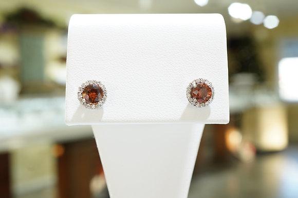 14k Diamond & Zircon Earrings