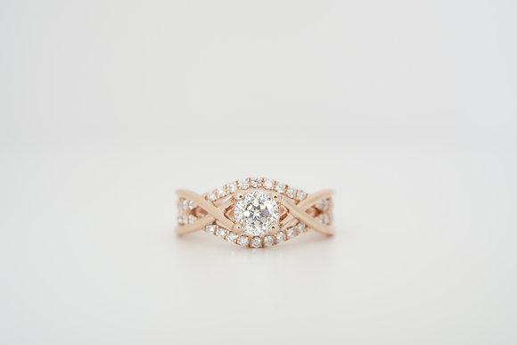14k Rose 7/8ctw Sirius Star Diamond Ring