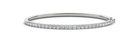 14k 2ctw Diamond Hinged Bangle Bracelet