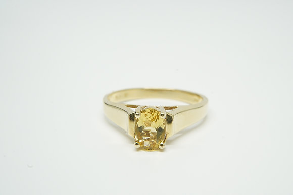 14k Heliodor Ring