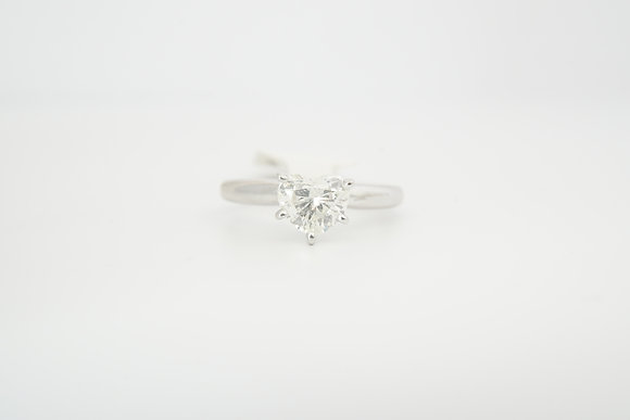 14k .97ct Heart Solitaire
