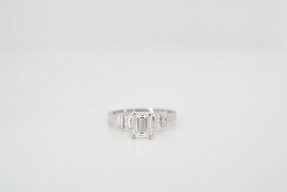 14k 1.31ctw Emerald-Cut Diamond Ring