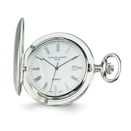 Charles Hubert Paris Steel Pocket Watch