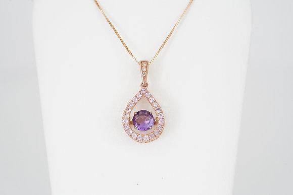 10k Amethyst 'Dancing Gemstone' Necklace