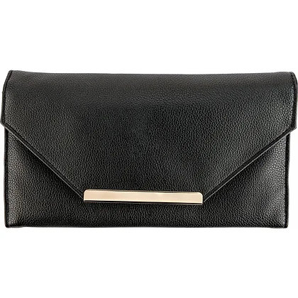 Black Leatherette Travel Clutch