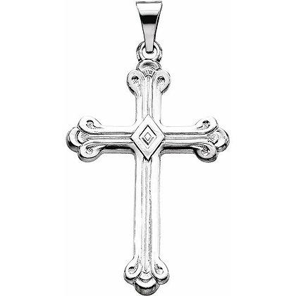 14k Sculptural Cross Pendant