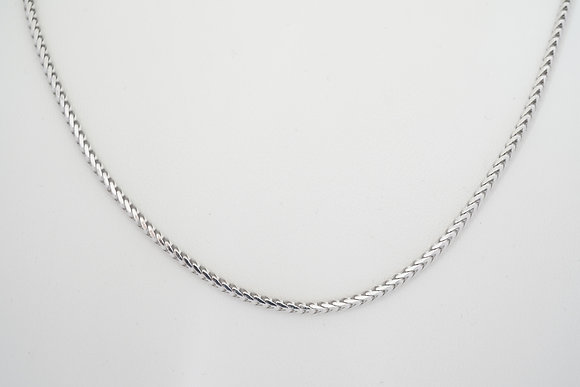 "Sterling Silver 24"" 2.4mm Franco Chain"