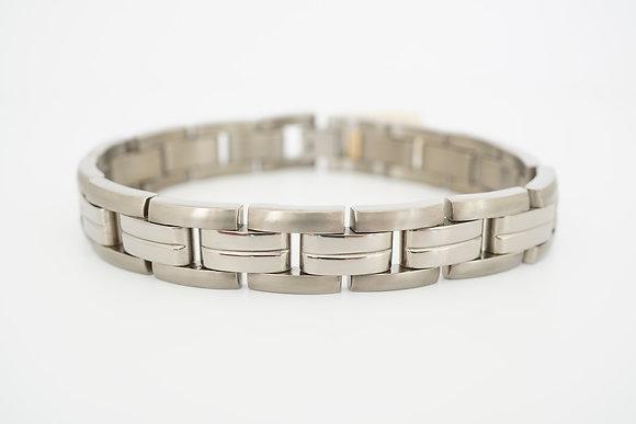 Titanium Polished & Brushed Link Bracelet