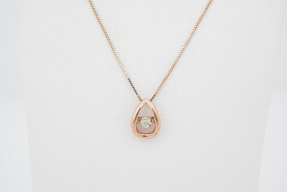 10k Petite Dancing Diamond Necklace