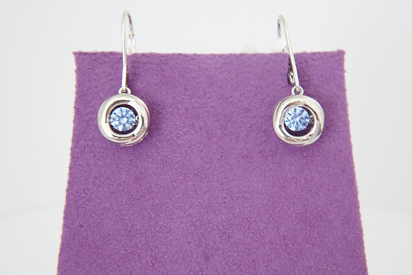Twinkles Blue Leverback Earrings