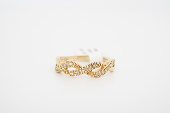 14k .11ctw infinity diamond band