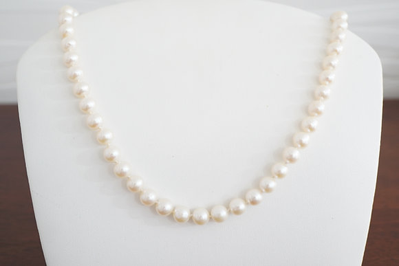 Silver or 14k 7.5-8mm Freshwater Pearl Strand