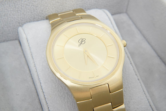 Men's Ultra-Slim Yellow Watch