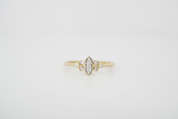 10k .12ctw Art Deco Inspired Ring
