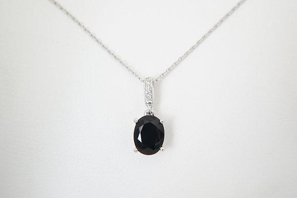 14k Black Onyx & Diamond Pendant