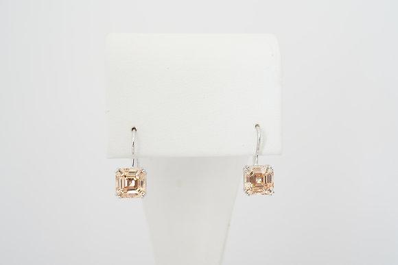 Sterling Silver Orange French-Hook Earrings