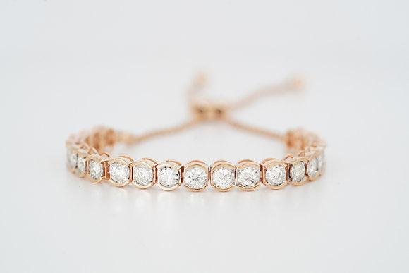 14k Rose 2ctw Diamond Bolo Bracelet