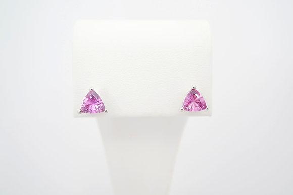 14k 1.76ctw Pink Sapphire Studs
