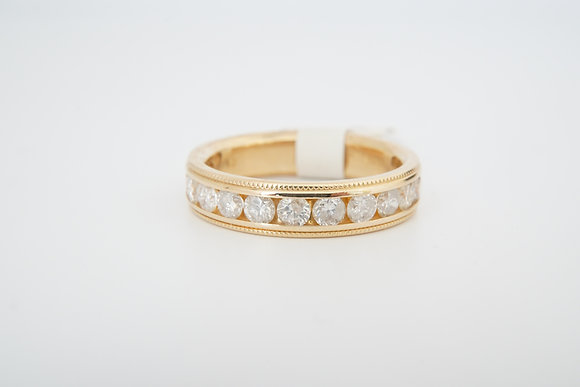 14k 1ctw Diamond Milgrain Band