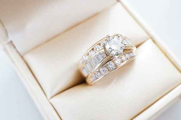 14k 2.05ctw Diamond Channel Ring