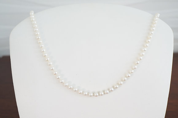 Silver or 14K, 4.5-5mm Freshwater Pearl Strand