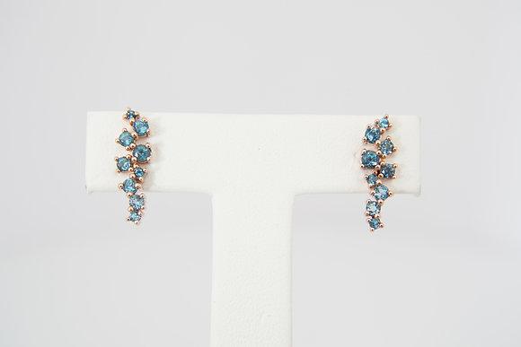 """14k """"Constellation"""" Blue Topaz Earrings"""