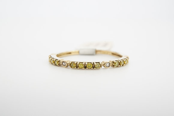 10k Yellow & White Diamond Band