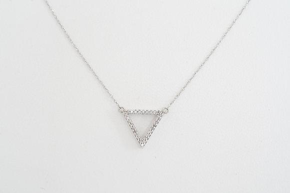 10k .12ctw Diamond Triangle Necklace