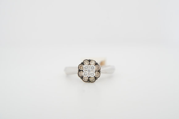14k 1/2ctw Diamond Floral Cluster Ring