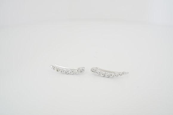 10k 1/4ctw Diamond Bezel Ear Climbers