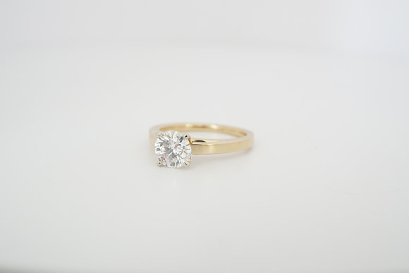 14k 1.11ct Diamond Cathedral Solitaire Ring