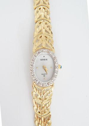 14k Genieve Women's Diamond Watch