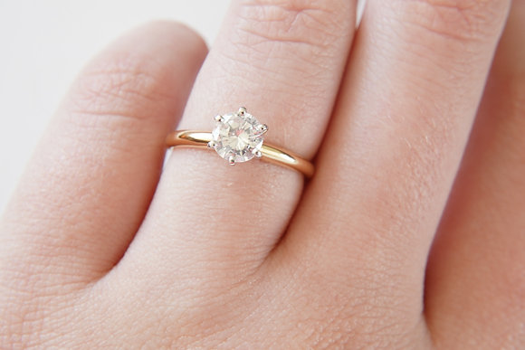 14k Yellow .69ct Solitaire Ring