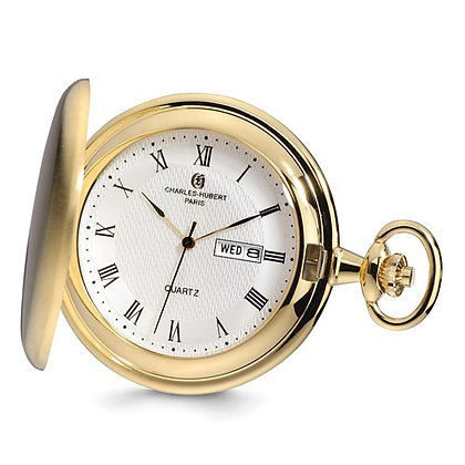 Charles Hubert Paris Yellow Pocket Watch