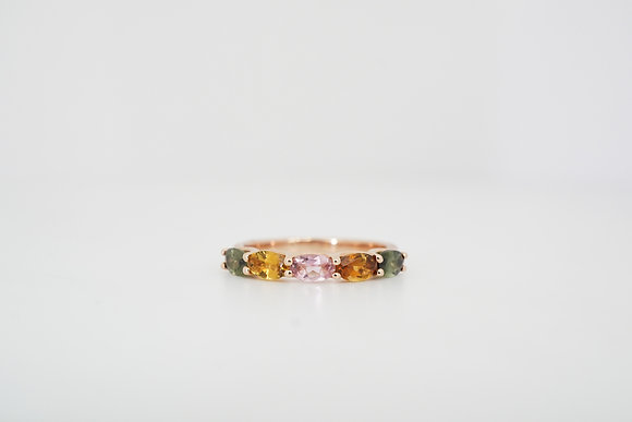 14k 5-Stone Tourmaline Trellis Ring