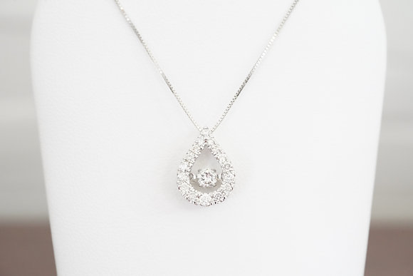 14k 1/2ctw Teardrop 'Dancing Diamond' Necklace