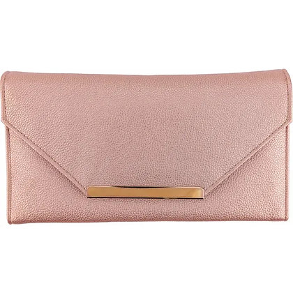 Blush Leatherette Travel Clutch