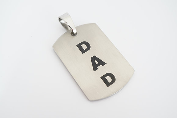 Stainless Steel DAD Dog Tag