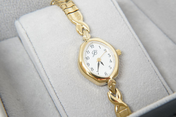Women's yellow Signature watch with expansion band