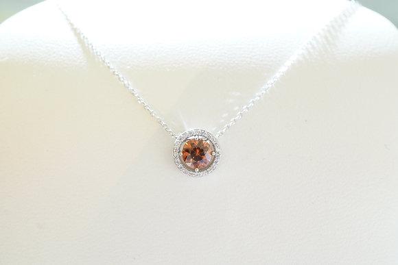14k Diamond & Zircon Pendant
