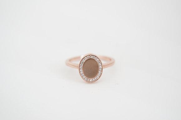 10k Rose Gold 1/10ctw Diamond Ring