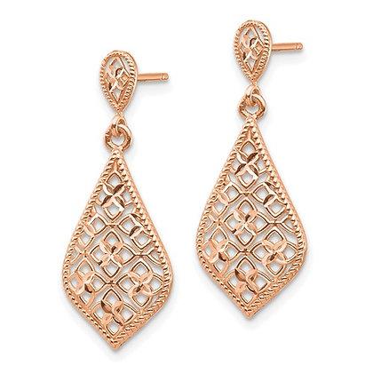 14k Rose Gold Dangle Earrings