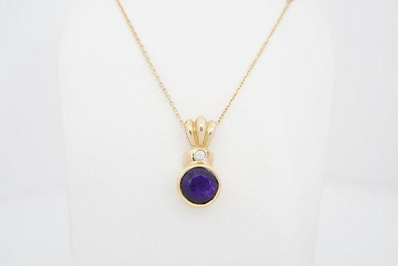 "14k Amethyst ""Crown"" Necklace"