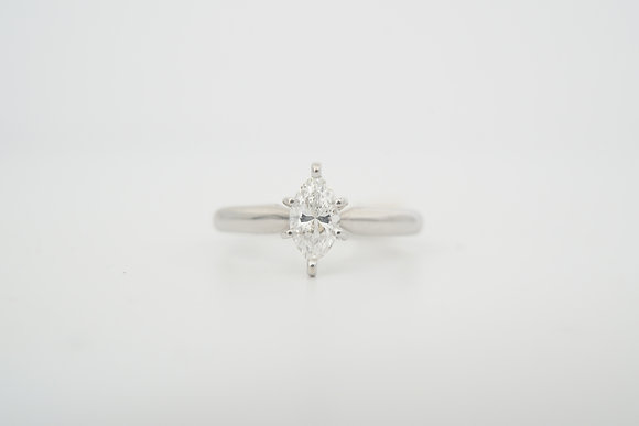 14k .52ct Marquise Solitaire Ring
