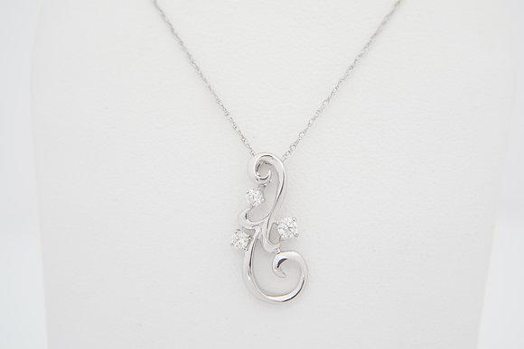 14k .15ctw Freeform Necklace
